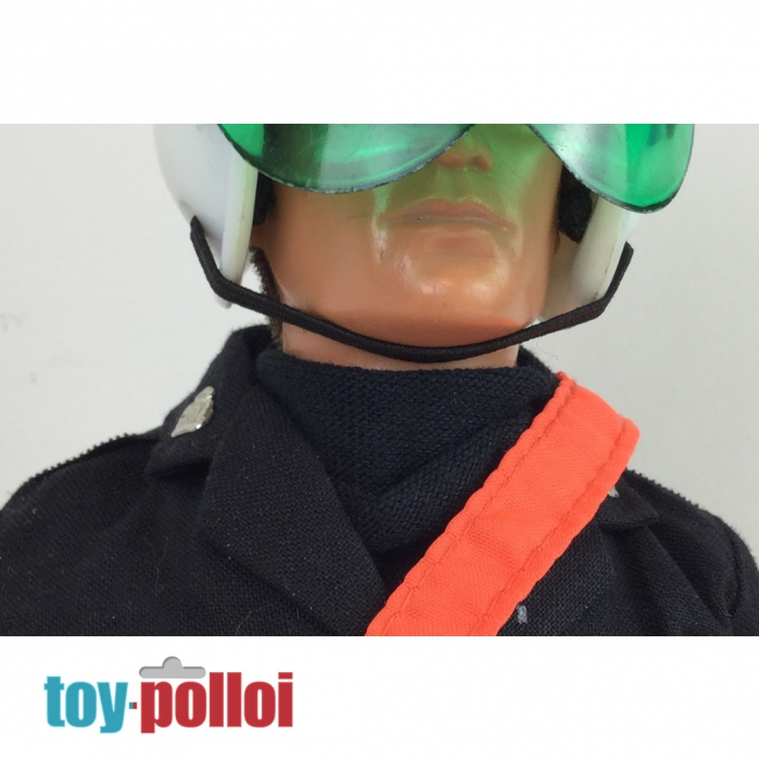 Custom Made /& floqué ~ Vintage Action man police bobbys Casque